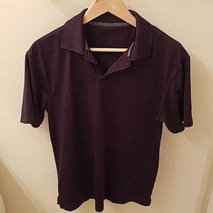 Haggar golf shirt polo in purple
